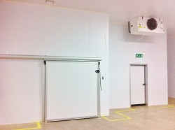 fire rated partition walls, chiller, hygienic and temperature controlled production