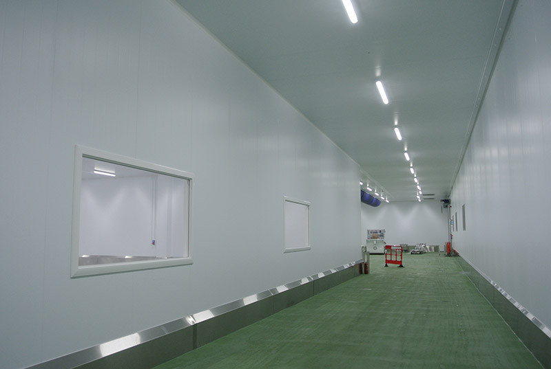 hygienic food safe corridors and a blast chiller area
