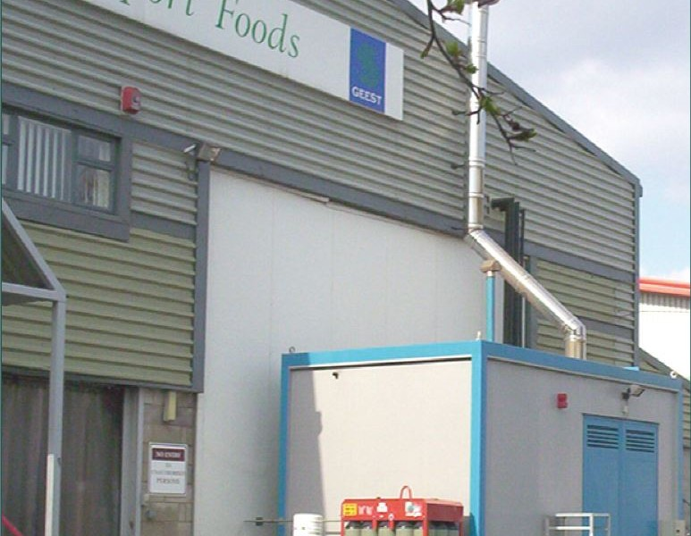 composite insulated panels for food manufacturing facility