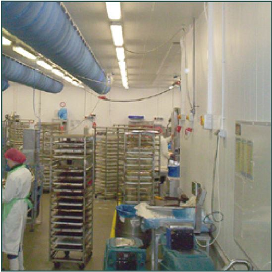hygienic partitioning for food production