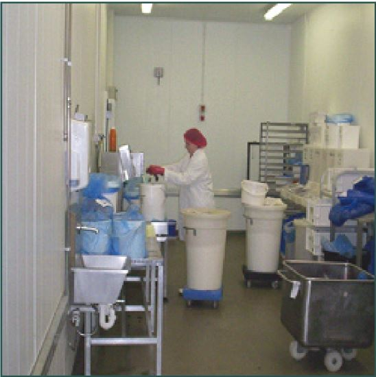 hygienic partitioning food preperation