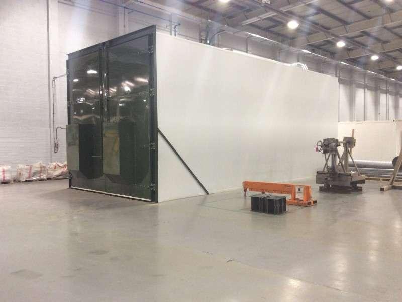 insulated panels for shot blast chamber
