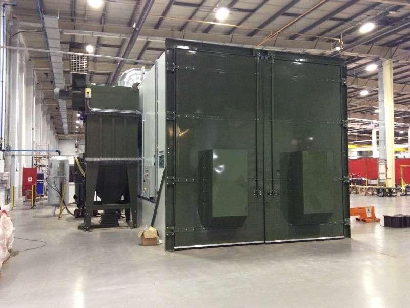 PIR panels for shot blast chamber