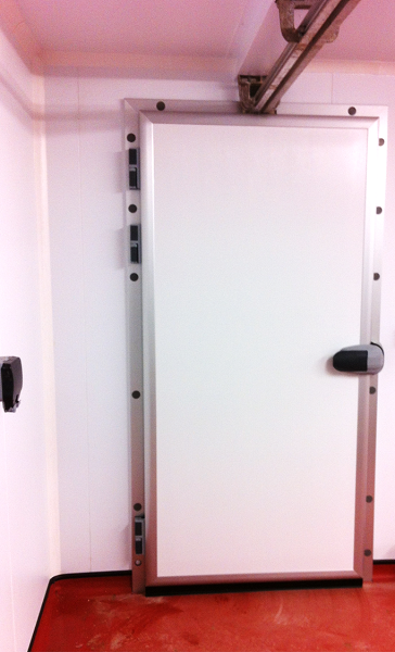 Chiller door for butchers