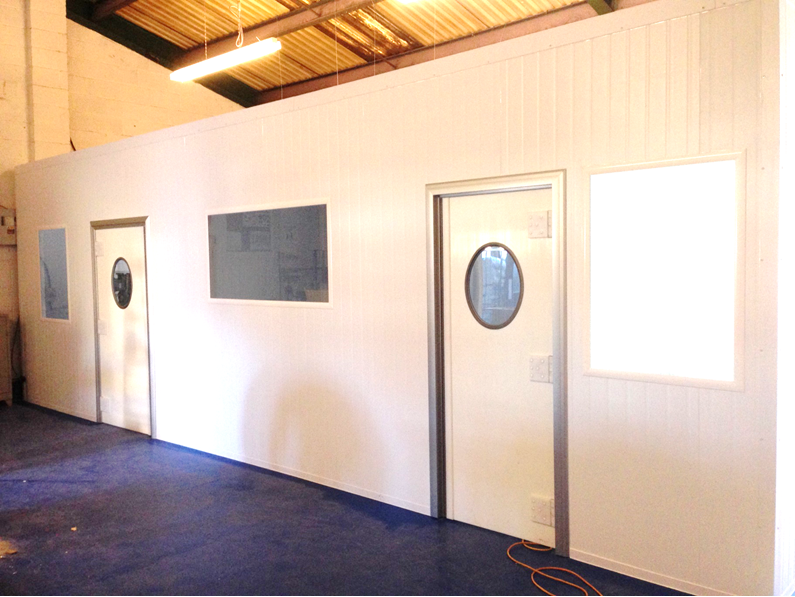 cleanroom partitions for medical technology provider devon stancold
