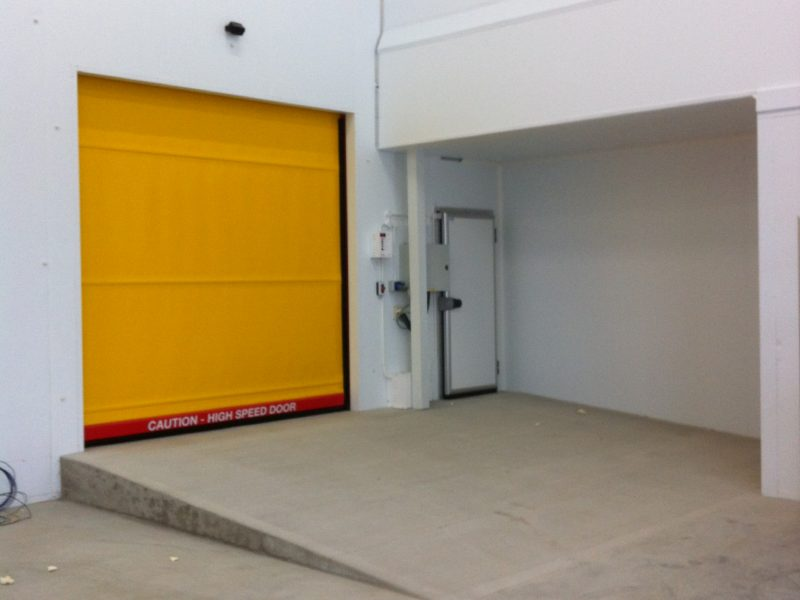 Chiller and rapid rise doors warehouse