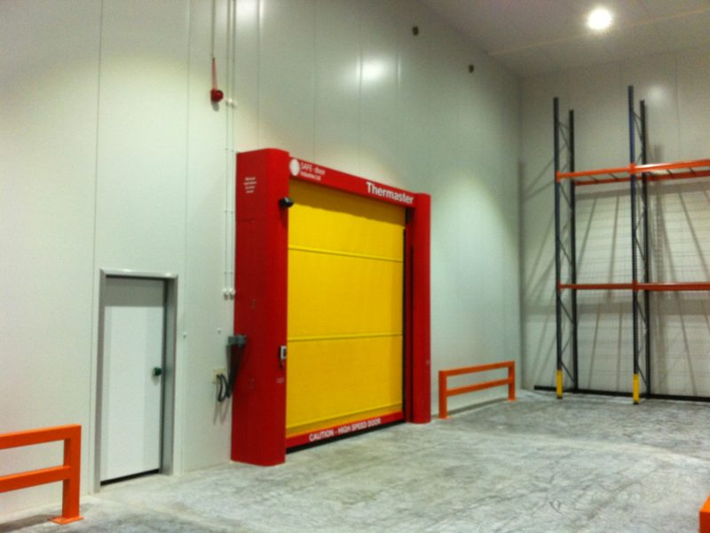 Distribution warehouse rapid roller doors