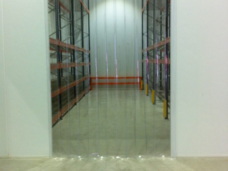 Distribution warehouse strip curtains