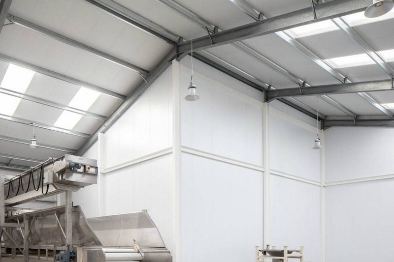 Industrial partitions for flour mill