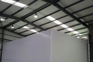 Panels installed for pharamceutical storage facility