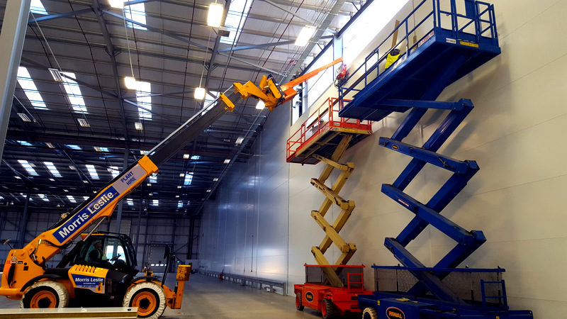 Installing composite panels for distribution centre