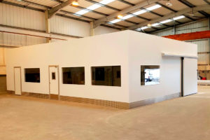 Triple compartment cleanroom in Preston