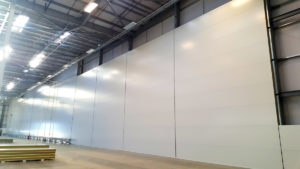 Horizontal panels for fire wall installation