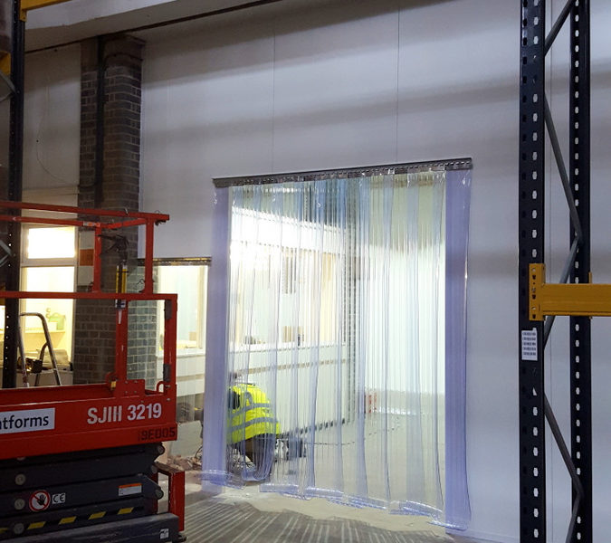 Strip curtains in Stancold installation