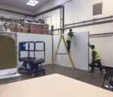 Installing panels for a fire rated bakery facility