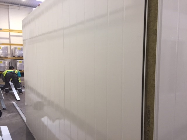 Installing fire rated panels for bakery