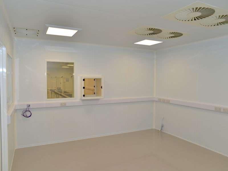 Inside an ISO 6 cleanroom