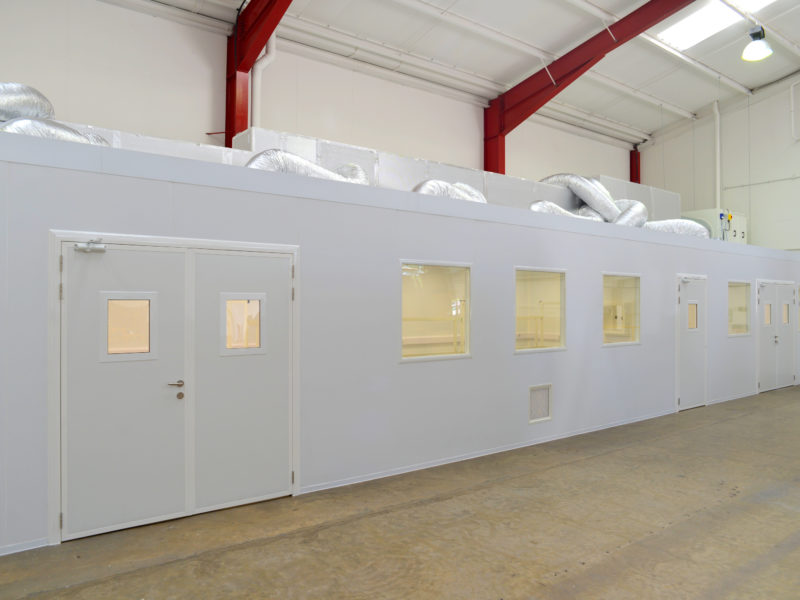 Installing a multi-room cleanroom for a precision engineering manufacturer