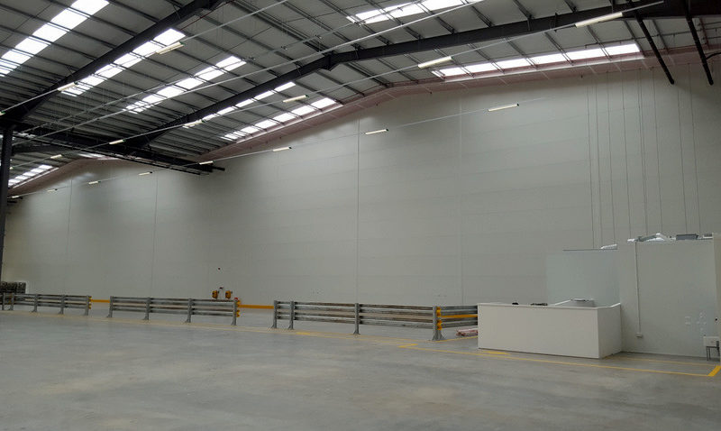 Two hour fire rated partitions in supermarket warehouse