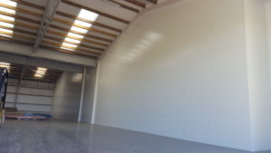 100mm vertical panels to form sub-dividing firewall in commercial barn