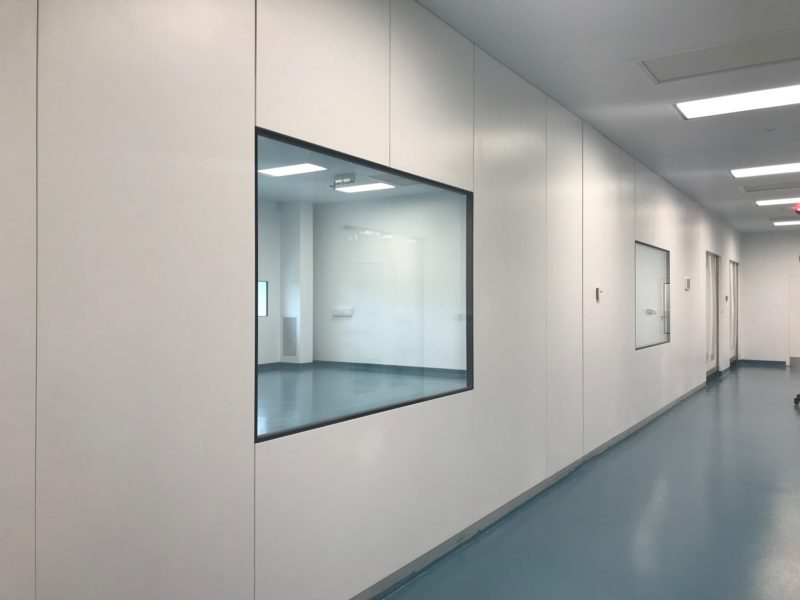 Fully flush vision panels for cleanrooms