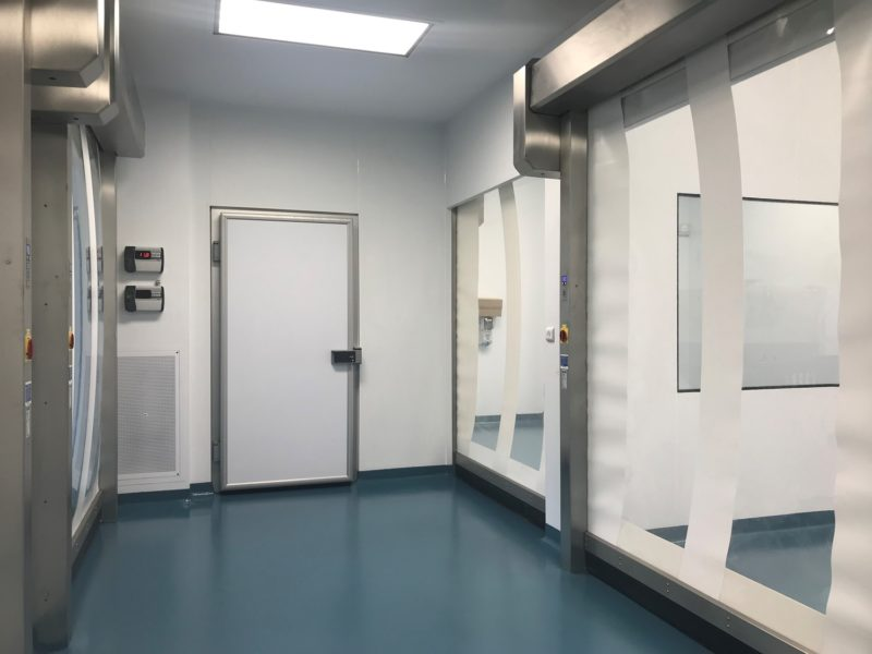 Cold storage for ISO 8 cleanroom