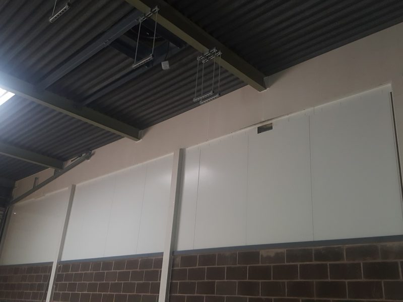 Fire rated partitions for army barracks