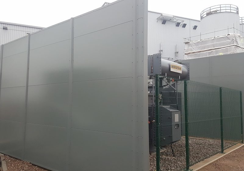 Installing firewalls for biomass plant