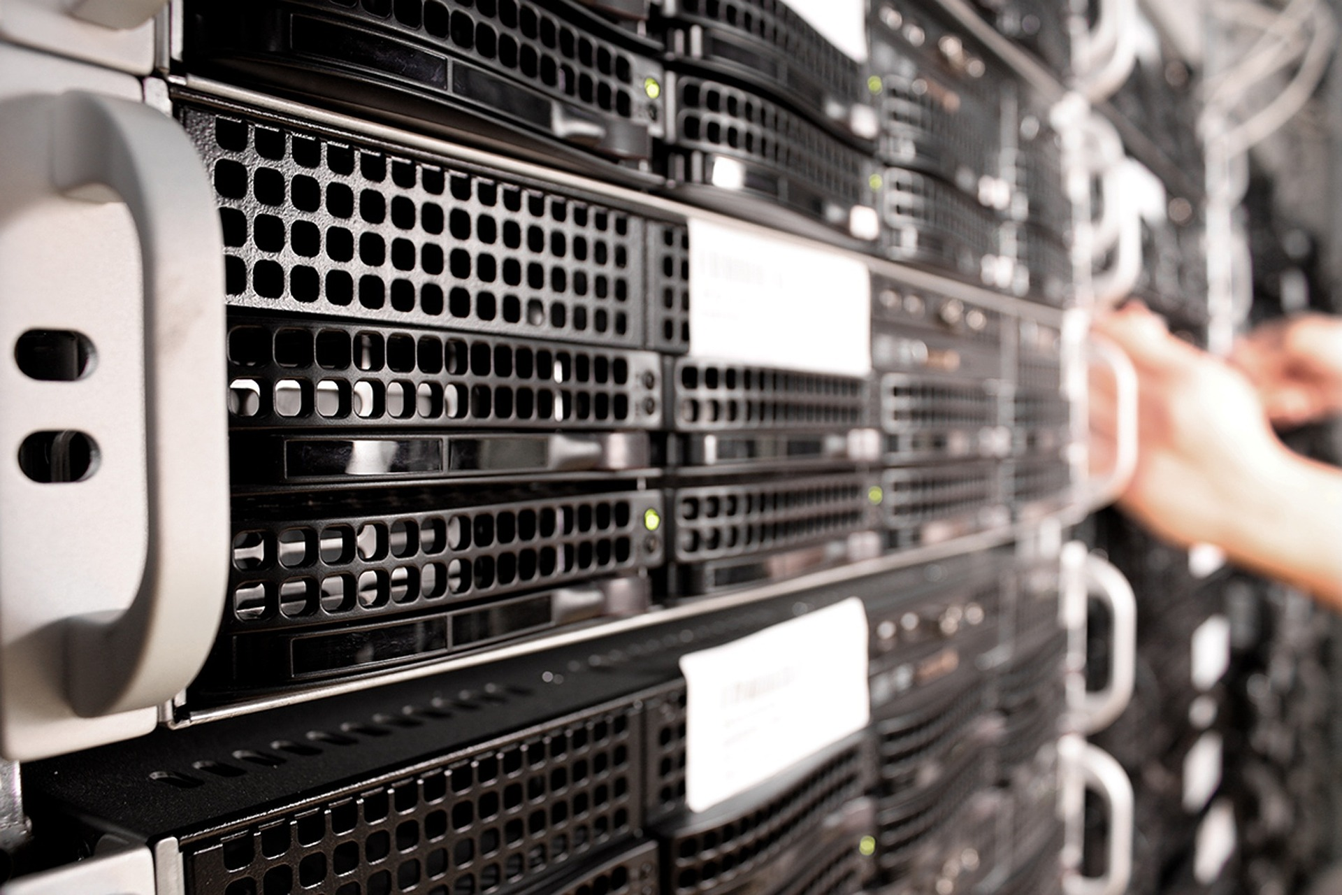 Servers in a data centre