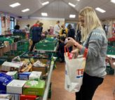Stancold colleagues volunteering at Clevedon Food Bank