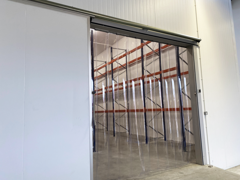 Strip Curtains and Sliding Freezer Door