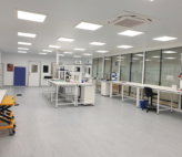 Inside the ISO 8 cleanroom for electrical component manufacture